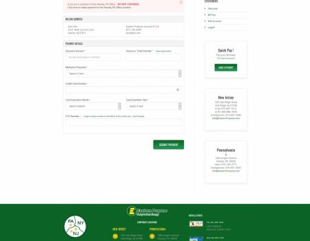 Customer Bill Pay | Eastern Propane Website Design