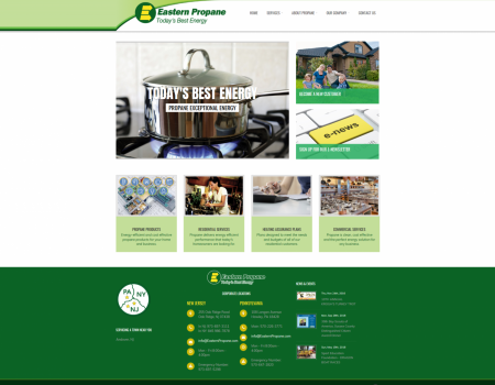Homepage | Eastern Propane Website Design