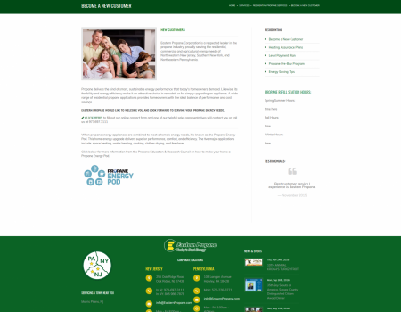 Services | Eastern Propane Website Design