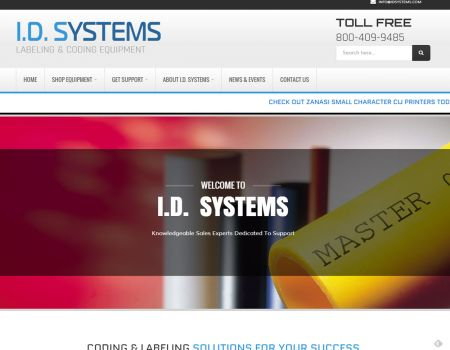 ID Systems Website Design Homepage Slideshow