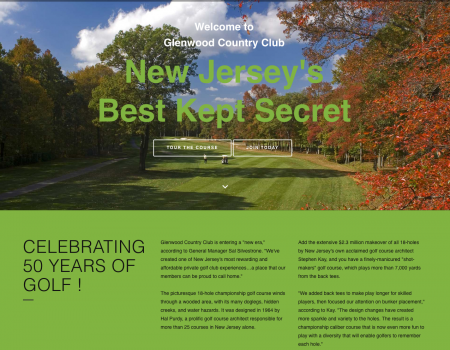 NJ Golf Course Web Design