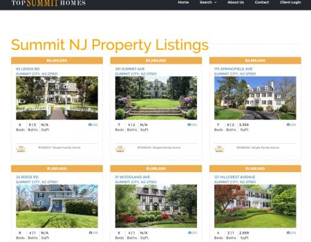 Summit NJ Real Estate Listings