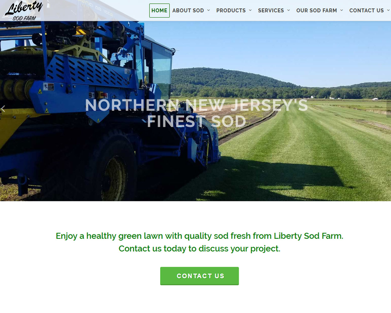 Sod Farm website